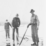 Ice Cutting on the Swan (Elmer Sprunger, Geo. Wells & brother)