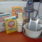 Laundry Soap Ingredients and Equipment