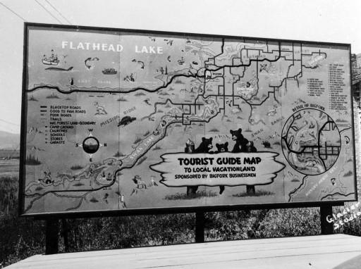 Tourist Guide Map by Elmer Sprunger