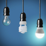 Incandescent, CFL and LED hanging bulbs