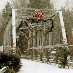 Bigfork's Swan River Bridge at Christmastime