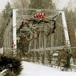 Bigfork's Swan River Bridge at Christmastime